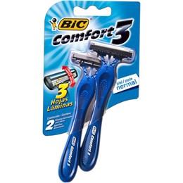 Aparelho barbear bic c/2 comfort3 pele normal