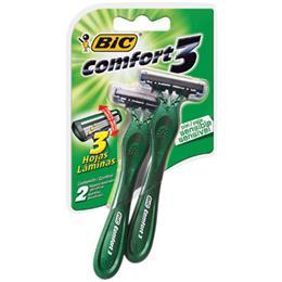 Aparelho de Barbear Comfort 3 Cabeça Móvel Pele Sensível (Emb. contém 12 Cartelas com 2un. cada)