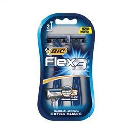 Aparelho de Barbear BIC Flex 3 Extra Suave (Emb. contém 12 Cartelas com 2un. cada)