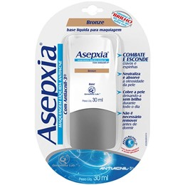 Base líquida anti-acne asepxia 30ml bronze