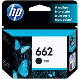 Cartucho HP 662 CZ103AB Preto para 1516 2516 3516 2546 3546 (Emb. contém 1un.)