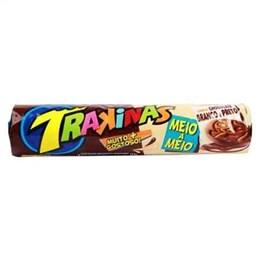 Biscoito Trakinas Meio Chocolate Chocolate Branco (Emb. contém 54un. de 126g cada)