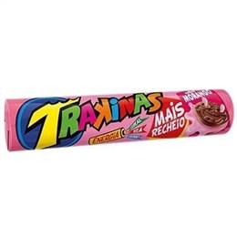 Biscoito Trakinas Mais Mais Morango (Emb. contém 54un. de 126g cada)