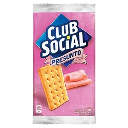 Biscoito Clube Social Presunto (Emb. contém 44 Pacotes com 6un. de 23,5g cada)