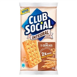 Biscoito Clube Social Integral 5 Cereais (Emb. contém 44 Pacotes com 6un. de 24g cada)