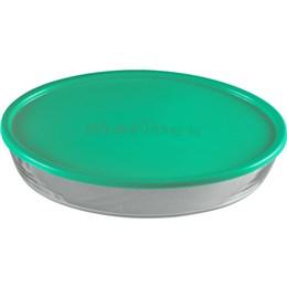 Assadeira Marinex Oval com Tampa Pequena 634525 (Emb. contém 6un.)
