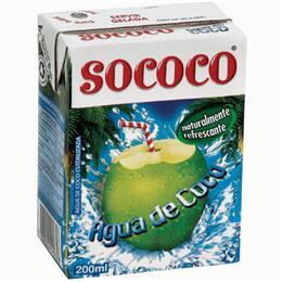 Água de Coco Sococo Tetra Pack (Emb. contém 24un. de 200ml cada)