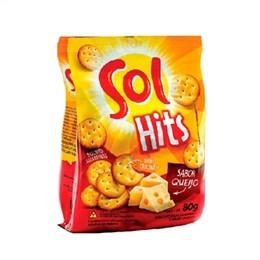 Biscoito Salgadinho Hits Sol Queijo (Emb. contém 24un. de 80g cada)