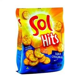 Biscoito Salgadinho Hits Sol Original (Emb. contém 24un. de 80g cada)
