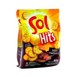 Biscoito Salgadinho Hits Sol Churrasco (Emb. contém 24un. de 80g cada)