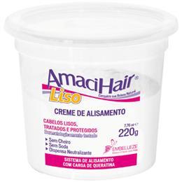Alisante Creme Amacihair Liso Balbinho (Emb. contém 6un. de 200g cada)