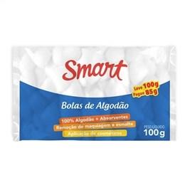 Algodão Smart Bola, Leve 100 Pague 85, Pack Promocional (Emb. contém 20un. de 100g cada)