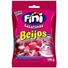 Bala Fini Gelatina Beijo de Morango (Emb. contém 12un. de 100g cada)