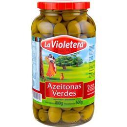Azeitona Verde  (Emb. contém 12un. de 500g cada) - La Violetera