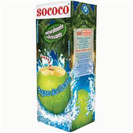 Água de Coco Sococo Tetra Pack (Emb. contém 12un. de 1 Litro cada)