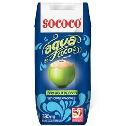 Água de Coco Sococo Tetra Pack (Emb. contém 12un. de 330ml cada)