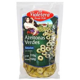 Azeitona La Violetera Verde  Fatiada (Emb. contém 24un. de 160g cada)