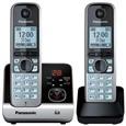 Telefone Fixo sem Fio Panasonic KXTG6722LBB 2 Monofones secretaria Eletrônico Preto (Emb. contém 1un.)