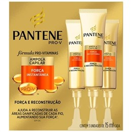 Ampola Pantene Creme de Tratamento Força Instantanea (Emb. contém 3un. de 15ml cada)
