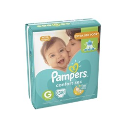Fralda infantil pampers confort mega g pc
