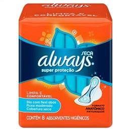 Absorvente Always Super Proteção Seca com Abas (Emb. contém 8un.)
