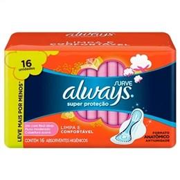 Absorvente Always Super Proteção Suave com Abas, Leve Mais por Menos (Emb. contém 16un.)