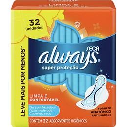 Absorvente com abas always c/32 super proteção seca