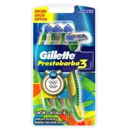 Aparelho de Barbear Prestobarba 3 Masculino Leve 4 Pague 3 Pack Promocional (Emb. contém 1 Cartela com 4un.)