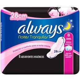 Absorvente Proteção Seca Noturno Com Abas (Emb. contém 8un.) - Always