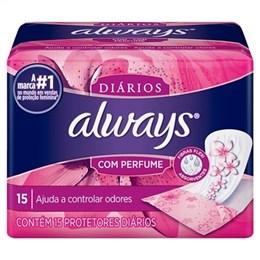 Absorvente Always Protetor Diario com Perfume (Emb. contém 15un.)