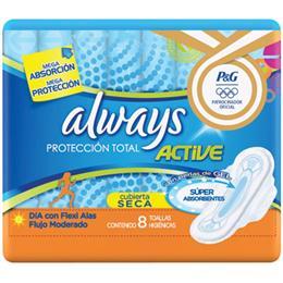 Absorvente Always Maxima Proteção Seca com Abas (Emb. contém 8un.)