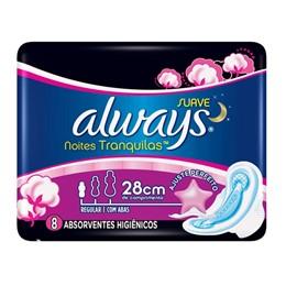 Absorvente com abas always c/8 proteção total noturno