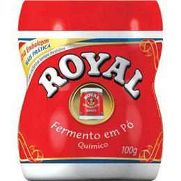 Fermento em Pó  (Emb. contém 12un. de 100g cada)  - Royal