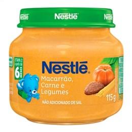 Alimento Infantil Papinha Nestlé Carne com Legumes e Macarrão (Emb. contém 6un. de 115g cada)