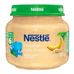 Alimento Infantil Papinha Nestlé Banana com Aveia (Emb. contém 6un. de 120g cada)