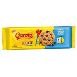 Biscoito Cookies Garoto Gotas Chocolate ao Leite (Emb. contém 52un. de 60g cada)