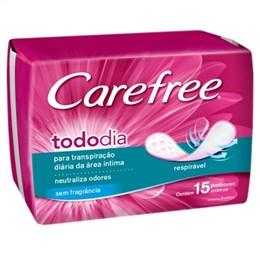 Absorvente Carefree Proteção sem Perfume (Emb. contém 15un.)