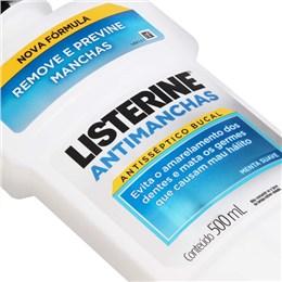 Enxaguatório antisséptico listerine 500ml whitening antimanchas