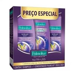 2 Shampoo + 1 Condicionador Palmolive Cachos Control Preço Especial (Emb. contém 3un. de 325ml cada)