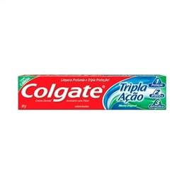 Creme Dental Colgate Tripla Ação Menta Original (Emb. contém 12un. de 90g cada)