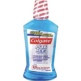 Enxaguatório Bucal Plax Colgate Ice Leve 500ml Pague 350ml Pack Promocional (Emb. contém 1un. de 500ml)