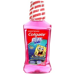 Enxaguatório Bucal Plax Colgate Kids Bob Esponja Tutti Frutti (Emb. contém 1un. de 250ml)