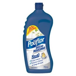 Cera líquida poliflor 750ml brilho máx c/30% desconto
