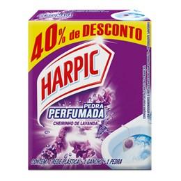 Pedra Sanitária Harpic 40% de Desconto Aroma Plus Lavanda