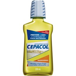 Enxaguatório antisséptico cepacol 250ml tradicional
