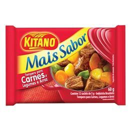 Tempero Mais Sabor Carne (Emb. contém 12 un. de 60g cada) Vermelho - Kitano