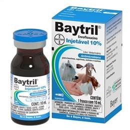 Baytril Antibiotico Enrofloxacina 10 Bayer Injetável (Emb. contém 1un. de 10ml)