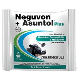 Neguvon + Asuntol PLus Bayer   Ectoparasiticida Pó para Pulverização (Emb. contém 10un. de 100g cada)