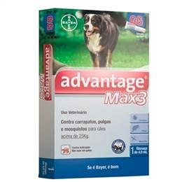 Advantage Max3 Bayer Antipulga Anticarrapaticida para Cães Acima de 25Kg (Emb. contém 1 Bisnaga de 4,0ml)