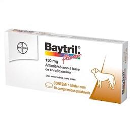 Baytril Flavour Bayer 150mg (Emb. contém 10 Comprimidos)